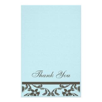 Paisley e obrigado floral você cartões papel personalizados
