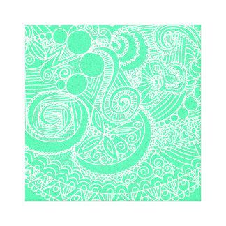 Paisley imprimiu canvas impressão de canvas envolvida
