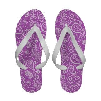 Paisley malva profundo sandalias de praia