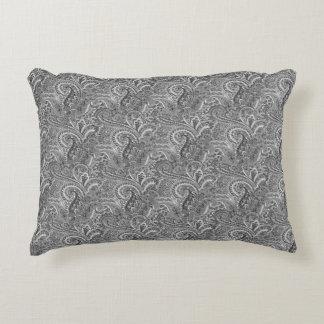 """Paisley preto e branco, travesseiro 16"""" do acento almofada decorativa"""