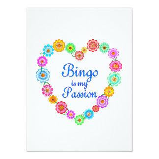 Paixão do Bingo Convite 13.97 X 19.05cm
