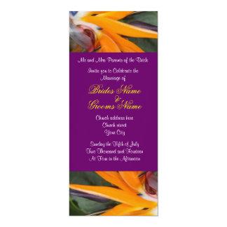 Paixão em convites tropicais do casamento do