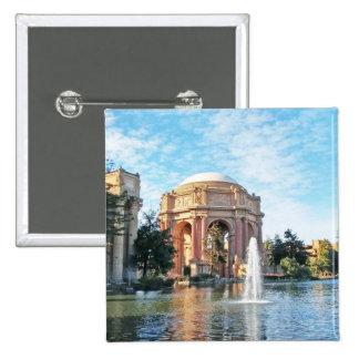 Palácio das belas artes - San Francisco Bóton Quadrado 5.08cm