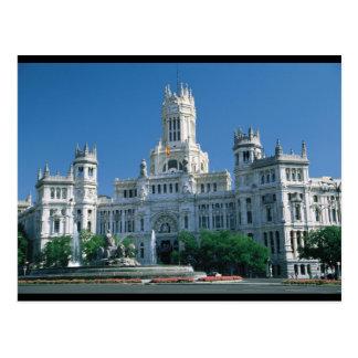 Palácio das comunicações de Madrid Cartões Postais