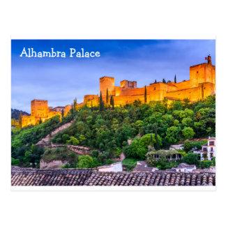 Palácio de Alhambra do cartão