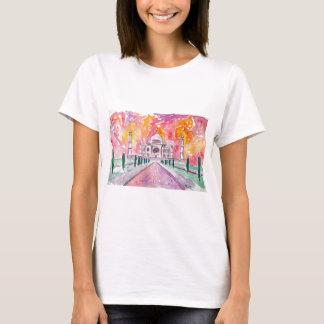 Palácio de India no por do sol Camiseta