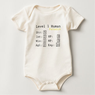 Paladino do nível um body para bebê