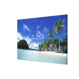 Palau, ilhas da rocha, ilha da lua de mel, mundo impressão em tela
