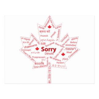 Palavra canadense essencial cartão postal