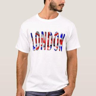 Palavra de Londres com o t-shirt dos homens da Camiseta