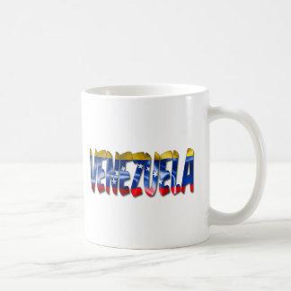 Palavra de Venezuela com a caneca de café da