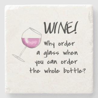 Palavra engraçada do vinho tinto que diz a bebida porta copos de pedras