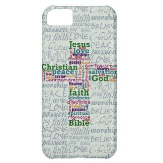 Palavra religiosa cristã Art Cross Capa Para iPhone 5C