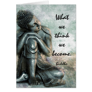 Palavras calmas de Buddha da sabedoria Cartão Comemorativo