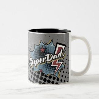 Palavras cómicas do super-herói da caneca de café