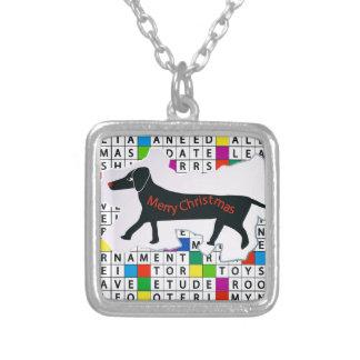 Palavras cruzadas do cão com Dachshund Pingente