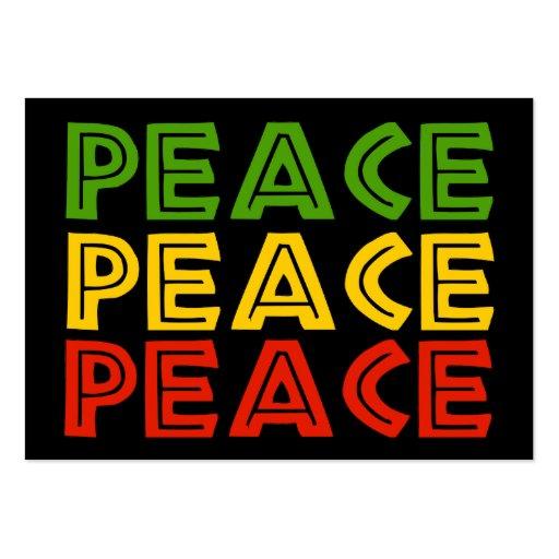 Palavras da paz modelo cartões de visita