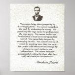 Palavras da sabedoria em Parchment= Abraham Lincol Posters