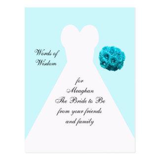Palavras da sabedoria para cartão do casamento cartão postal