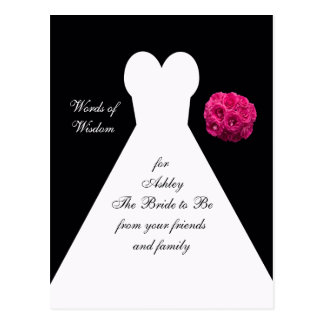 Palavras da sabedoria para o cartão das noivas - v cartão postal