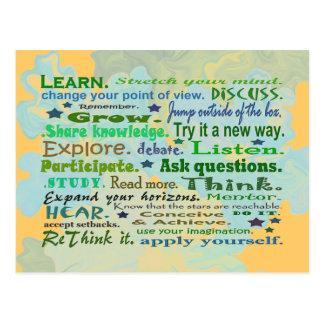 palavras do cartão da colagem da sabedoria