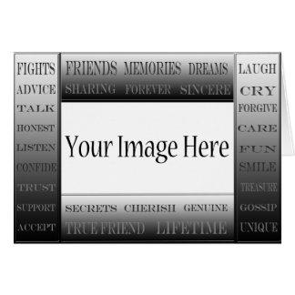 Palavras do quadro da Amizade-Imagem por Cartão Comemorativo