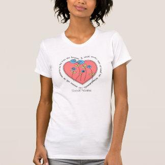 Palavras do t-shirt do assistente social a viver