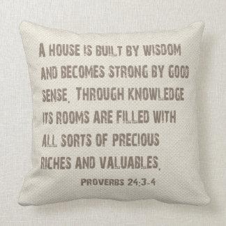 Palavras do travesseiro da sabedoria almofada