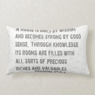 Palavras do travesseiro da sabedoria almofada lombar