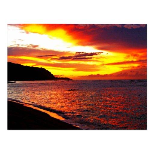 Palavras e citações havaianas cartoes postais