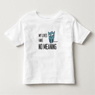 Palavras engraçadas do gato - minhas vidas não têm tshirt