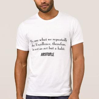 Palavras inspiradores camiseta