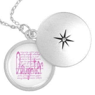 Palavras Loving para uma filha Colar Medalhão