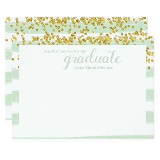 Palavras modernas do verde & do ouro de cartões do