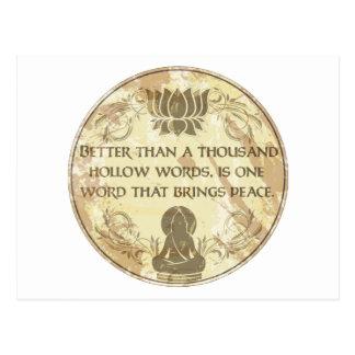 Palavras ocas de Buddha Cartão Postal
