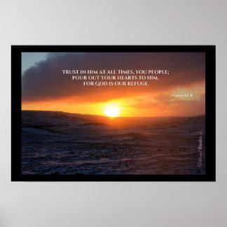 """""""Palavras santamente"""": 62:8 do salmo Poster"""