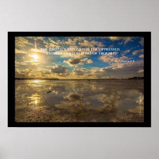"""""""Palavras santamente"""": 9:9 do salmo Poster"""