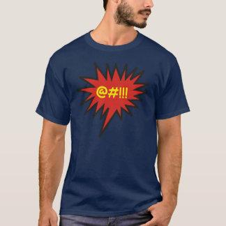 Palavrões irritados cómicos da bolha da conversa camiseta