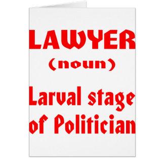 Palco Larval do advogado substantivo do político Cartao