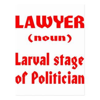 Palco Larval do advogado (substantivo) do político Cartão Postal