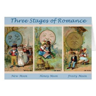 Palcos do cartão romance
