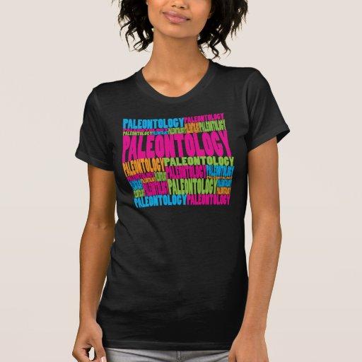 Paleontologia colorida camiseta