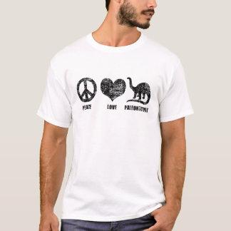 Paleontologia do amor da paz camiseta