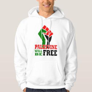 Palestina estará livre moletom com capuz