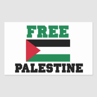 Palestina livre adesivo retangular