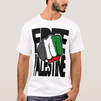 "Palestina livre ""punho "" camiseta"