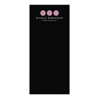 Paleta cor-de-rosa do brilho para o maquilhador 10.16 x 22.86cm panfleto