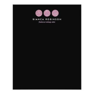 Paleta cor-de-rosa do brilho para o maquilhador panfleto coloridos