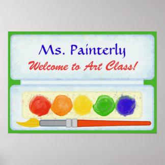 Paleta da pintura do sinal de boas-vindas | da pôster