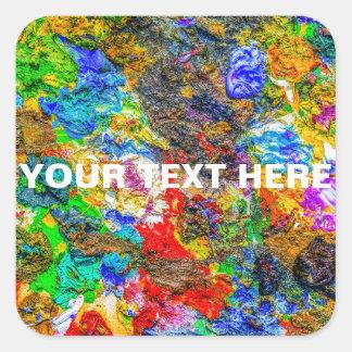 Paleta de cores adesivo quadrado